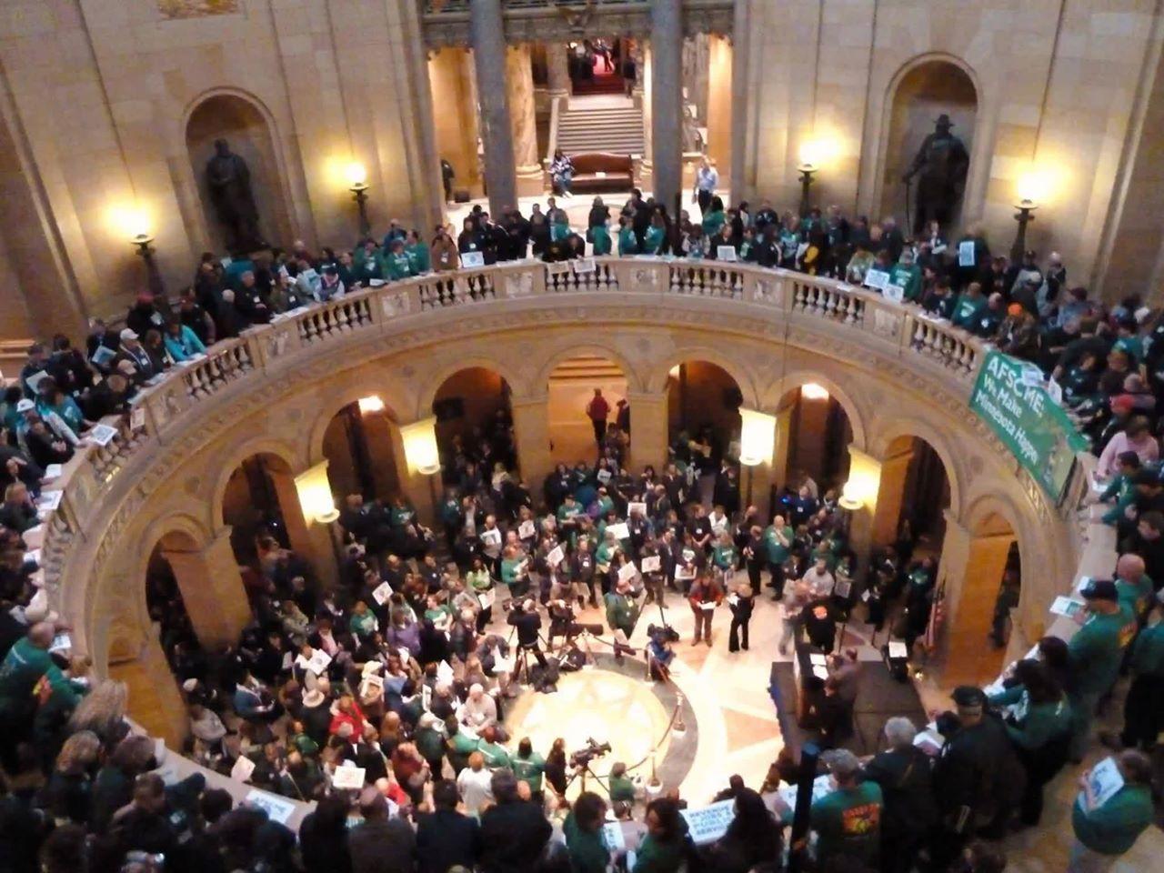 rally in the Capitol Rotunda